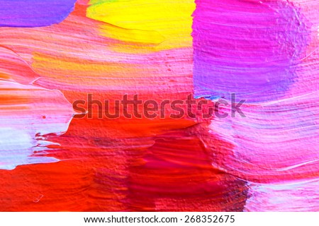 Abstract acrylic painting. Colorful multicultural city. Multicolored streets. Art background. Backgrounds & textures shop.