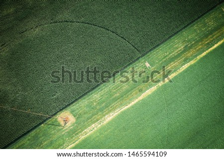 Abstract Aerial of Farmland Plainsboro #1465594109