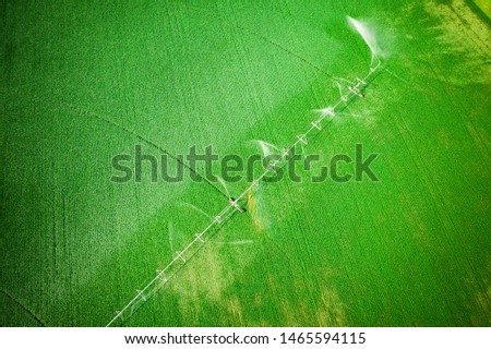 Abstract Aerial of Farmland Plainsboro #1465594115