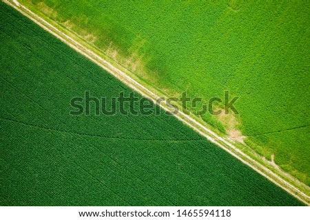 Abstract Aerial of Farmland Plainsboro #1465594118