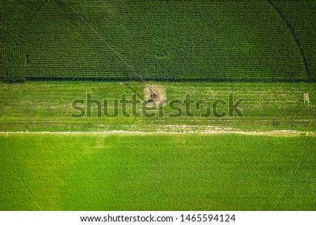 Abstract Aerial of Farmland Plainsboro #1465594124