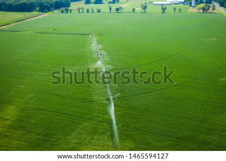 Abstract Aerial of Farmland Plainsboro #1465594127