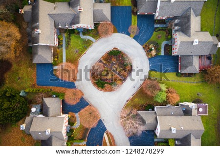 Abstract Aerial of Houses #1248278299