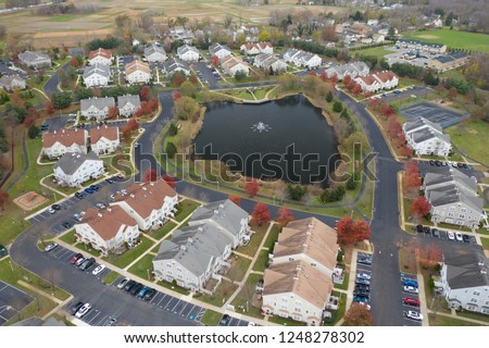 Abstract Aerial of Houses #1248278302