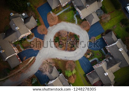Abstract Aerial of Houses #1248278305