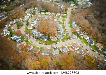 Abstract Aerial of Houses #1248278308