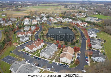 Abstract Aerial of Houses #1248278311