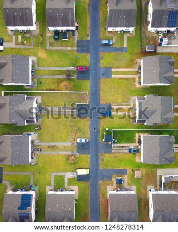 Abstract Aerial of Houses #1248278314