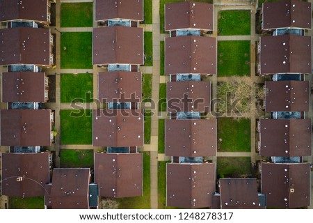 Abstract Aerial of Houses #1248278317