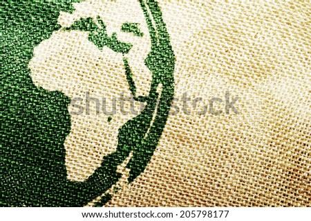 Abstract Africa grungy background printed on canvas