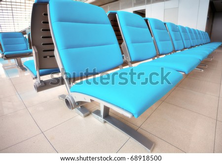 Abstract airport seats