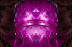 Abstract alien organic form purple symmetric background texture