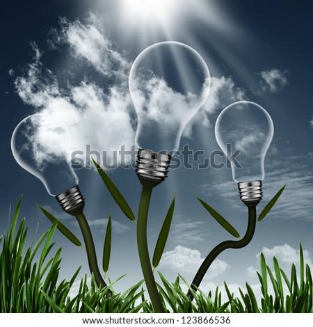 abstract alternative energy...