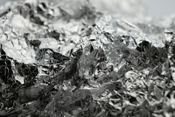 Abstract aluminium foil background. close up aluminium foil. Abstract and art background.