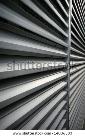 Abstract Aluminum Ventilation Grating