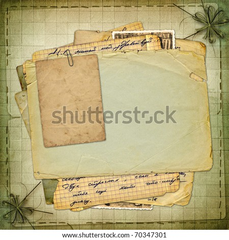 Abstract ancient brown background in scrap booking style