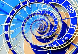 Abstract ancient zodiac clock. Abstract Astronomical clock