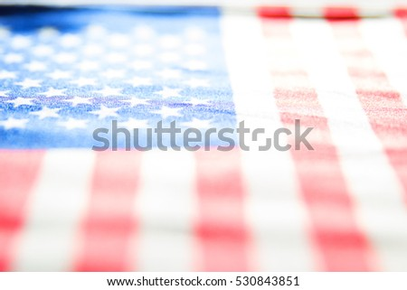 Abstract and faded stars and stripes of the United States flag #530843851