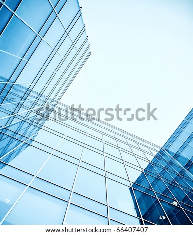 abstract angle of glass skyscrapers #66407407