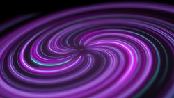 Abstract animation of neon lines twisted into a spiral. Effect depth of field. 3d rendered 4k 60 fps footage