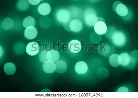 Abstract Aqua Menthe color or turquoise and aqua glitter sparkle confetti background or mint color party. Color trends 2020 Stock photo ©