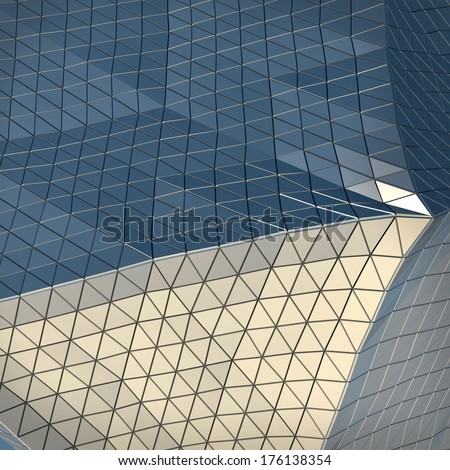 abstract architectural background with modern design building facade #176138354