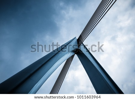 Abstract architectural features, bridge close-up