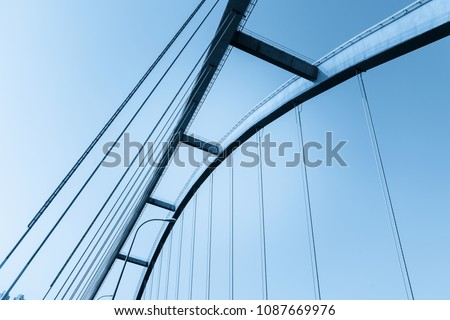 Abstract architectural features, bridge close-up #1087669976