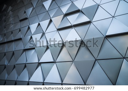 Abstract architectural pattern, triangles