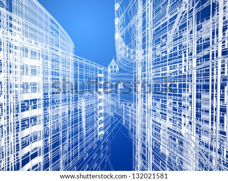 Abstract architecture - stock photo