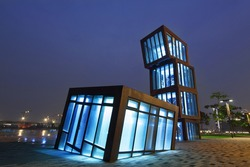 AbstracT Architecture at night
