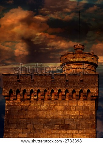 abstract, architecture, background, castle, defense, fortification, tower