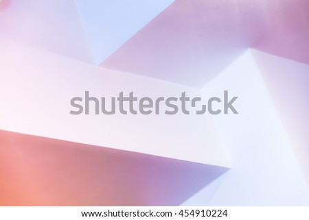 Abstract architecture background, colorful interior design with bright illuminated corners