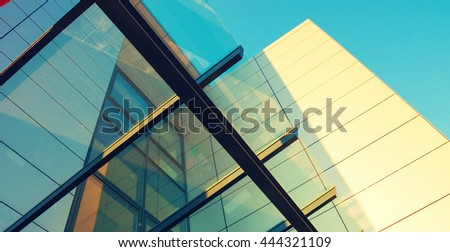 Abstract architecture background. Toned image #444321109