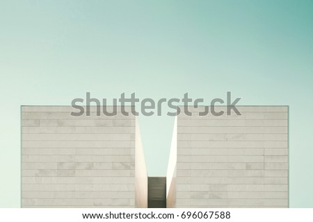 Abstract architecture. Close up of a facade building. #696067588