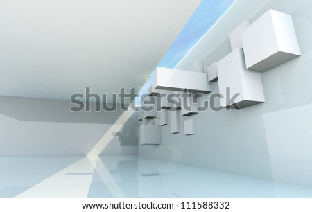 Abstract Architecture Concept, gallery interior