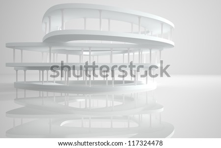 Abstract Architecture.Conceptual modern building with classical columns