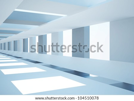 abstract architecture - 3d illustration