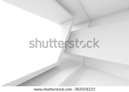 Abstract Architecture Design. White Modern Background. 3d Illustration