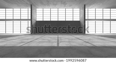 Abstract architecture interior background. Empty concrete room. 3d render