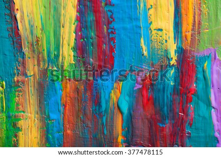 Abstract art background. Hand-painted background. SELF MADE. #377478115