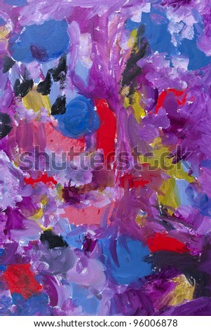 Abstract art background. Hand painted canvas.