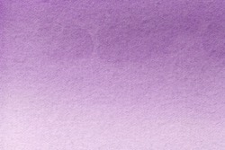 Abstract art background light purple and lilac colors. Watercolor painting on canvas with soft violet gradient. Fragment of artwork on paper with pattern. Texture backdrop.