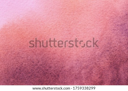 Abstract art background light red and pink colors. Watercolor painting on canvas with soft wine gradient. Fragment of rose artwork on paper with pattern. Texture backdrop, macro.