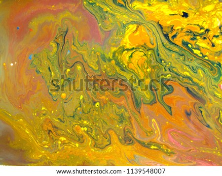 Bright Colorful Food Coloring In Water Oil For Abstract