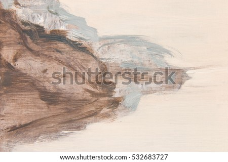 abstract art background. oil on ...