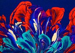 Abstract art background. painting on canvas.Fluid Art. Modern art. Contemporary art