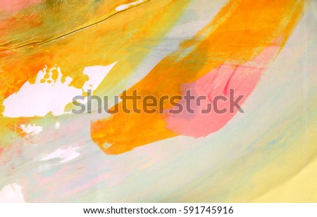 Abstract art background. Silk screen on paper. Multicolored background. Modern art. Contemporary art.