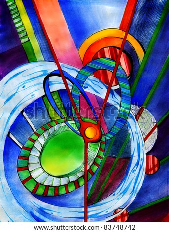 Abstract art  background, watercolor painting