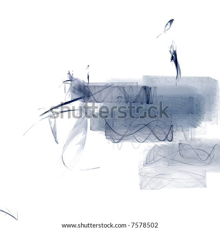 Abstract art: blue ink